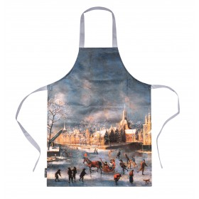 "Apron ""Winter View of Leyden"""