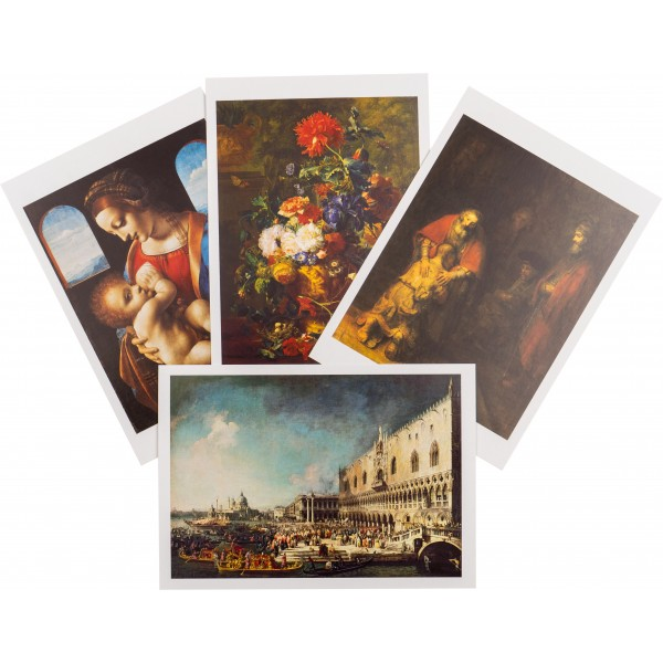"""""""Masterpieces Of Painting"""" Set Of Post Cards"""