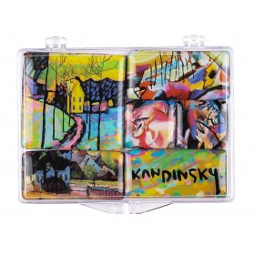 """Kandinsky"" Set of Mini-Magnets"