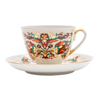 "Cup and Saucer Set ""Red Rooster"""