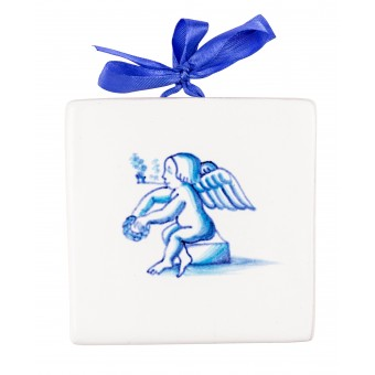 "Ceramic Plaques ""Angel with a Tube"""