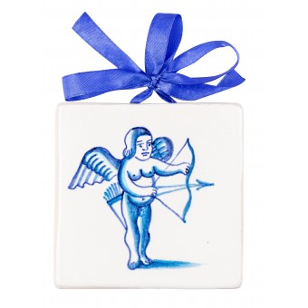 "Ceramic Plaques ""Angel with an Arrow"""