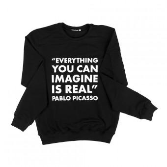 "Sweatshirt ""Picasso quotation"""