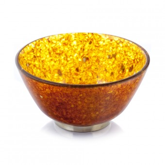 """Bandlet"" Amber Tea Bowl"