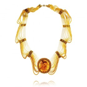 """Baltic Wave"" Amber Necklace"