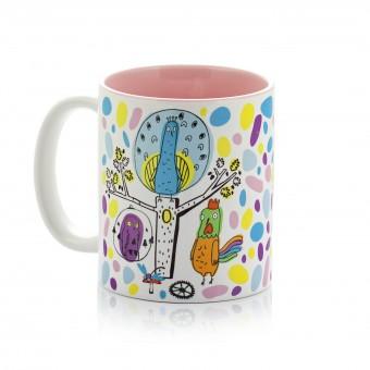 "Mug ""Peacock clock. Colorful Dreams"""