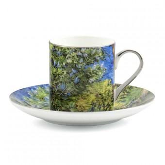 """Coffee set """"Lilac Bush"""""""