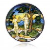 "Plate ""Adam and Eve"""