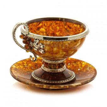 """Amber Tea Set """"Grapes"""""""