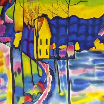 "Batik ""Winter Landscape. Kandinsky"""