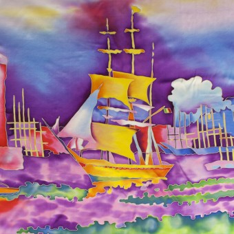 "Batik ""The Harbour at Marseilles. Signac"""