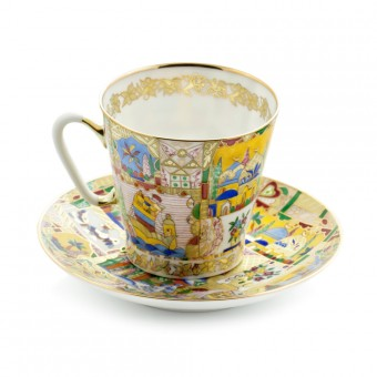 """""""Fairy Tale"""" Coffee Cup and Saucer"""