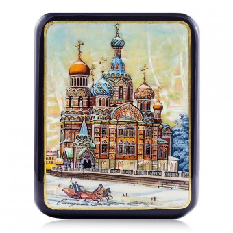 "Lacquer box ""Church of the Savior on the Spilled Blood"" Fedoskino"