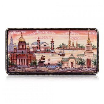 "Lacquer box ""Saint-Petersburg. Sunset"""