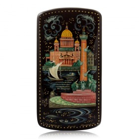 """Lacquer box """"Old St Petersburg"""" Kholuy"""