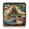 """Lacquer box """"The St. Isaac Cathedral. Winter"""" Kholuy"""