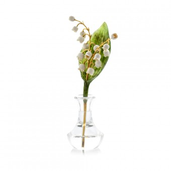 """Lily of the valley"" carved stone bouquet"