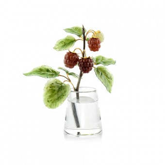 """""""Raspberry"""" carved stone bouquet"""