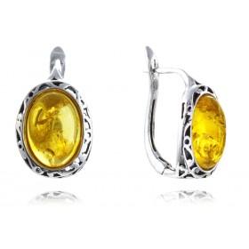 """""""Monferran"""" silver amber earrings"""