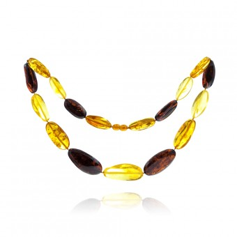 """Plum"" amber beads"