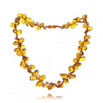 """Sea buckthorns"" amber beads"