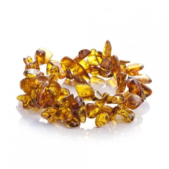"""Sea buckthorns"" amber bracelet"