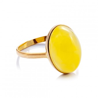 """Baltic Gold"" gold amber ring"