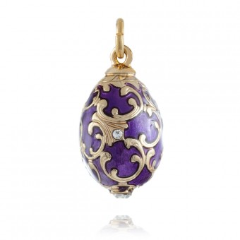 """Baroque"" Brass pendant"