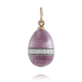 """Bandelet"" Silver enamel pendant"