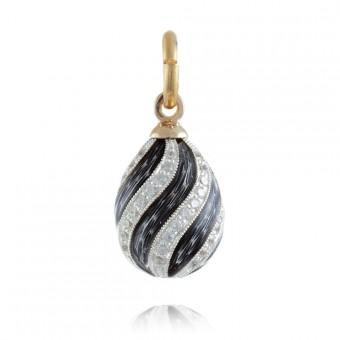 """""""Spiral"""" Silver enamel pendant"""