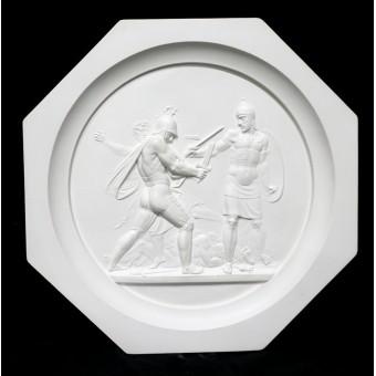 """Medallion """"Battle of Maloyaroslavets, 1812"""". By Fedor Tolstoy"""