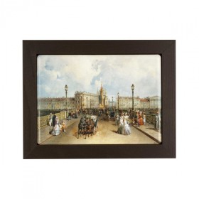 "Framed plaque ""Annunciation Bridge from the Vasilyevsky Island view"""