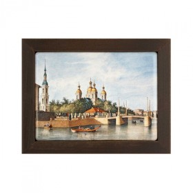 "Framed plaque ""St. Nicholas Naval Cathedral view"""