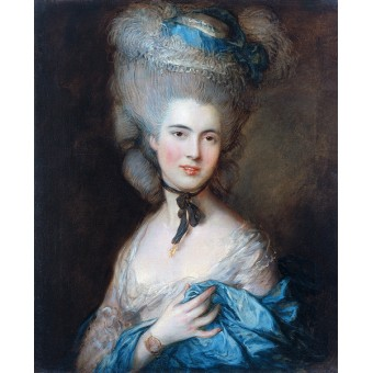Portrait of Woman in Blue. By Thomas Gainsborough