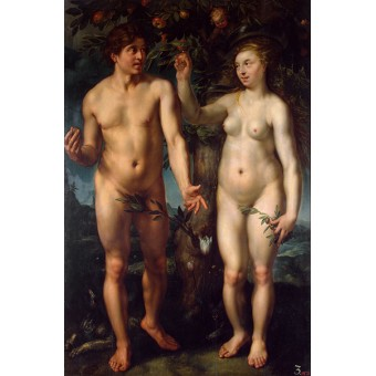 Adam and Eve (Fall of Man). By Hendrick Goltzius