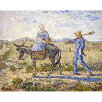 Morning: Going out to Work (After Millet). By Vincent van Gogh