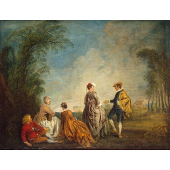 An Embarrasing Proposal. By Antoine Watteau