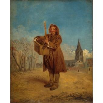 Savoyard with a Marmot. By Antoine Watteau