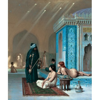 Pool in a Harem. By Jean-Leon Gerome