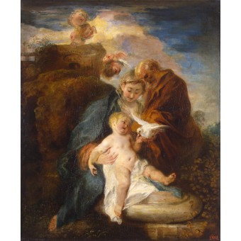 Holy Family (Rest on the Flight into Egypt). By Antoine Watteau