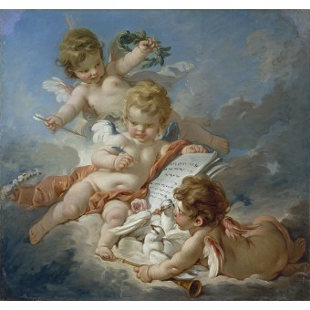 Cupids (Allegory of Poetry). By Francois Boucher