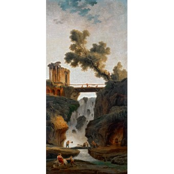 Landscape with a Waterfall. By Hubert Robert