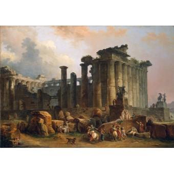 Ruins of Doric Tample. By Hubert Robert