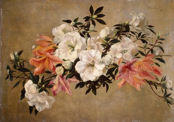Petunias  By Henri Fantin