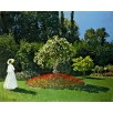 Woman in the Garden. Sainte-Adresse. By Claude Monet