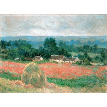 Haystack at Giverny. By Claude Monet