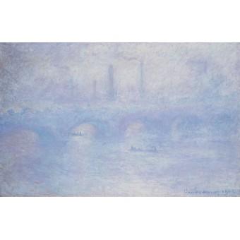 Waterloo Bridge. Effect of Fog. By Claude Monet
