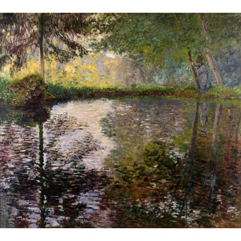The Pond at Montgeron. By Claude Monet
