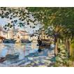 Seine at Rouen. By Claude Monet