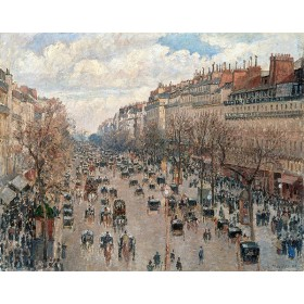 Boulevard Montmartre in Paris. By Camille Pissarro